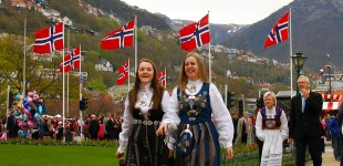 Flags and Fjords of Norway